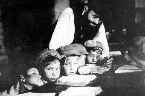 Žydų berniukai mokosi Chederyje