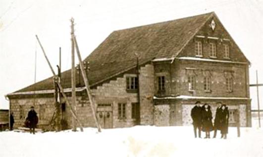 Jėgainės, kuri kartu buvo ir malūnas, atidarymas. 1931 m.