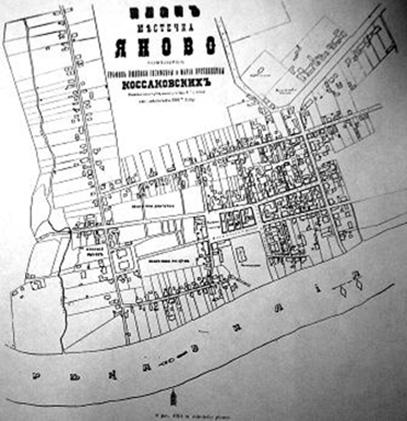 1914 m. miestelio planas