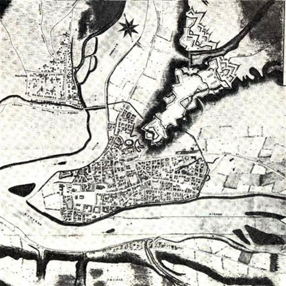 1796 m. Kauno planas.