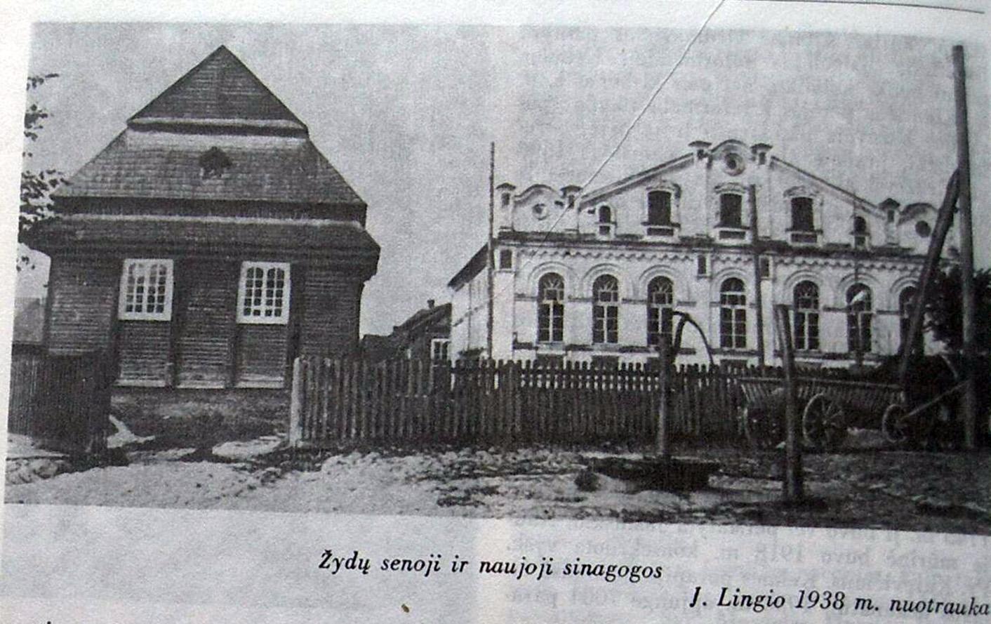 Senoji ir naujogi sinagogos Kelmėje