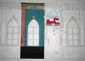 Sinagogos interjero detalės