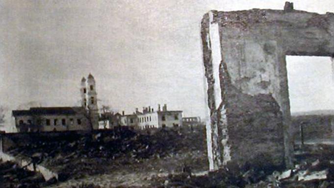 Sunaikinta Jonavos senamiesčio dalis 1944 m.